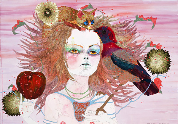 Del Kathryn Barton Australian Artist Painting 4
