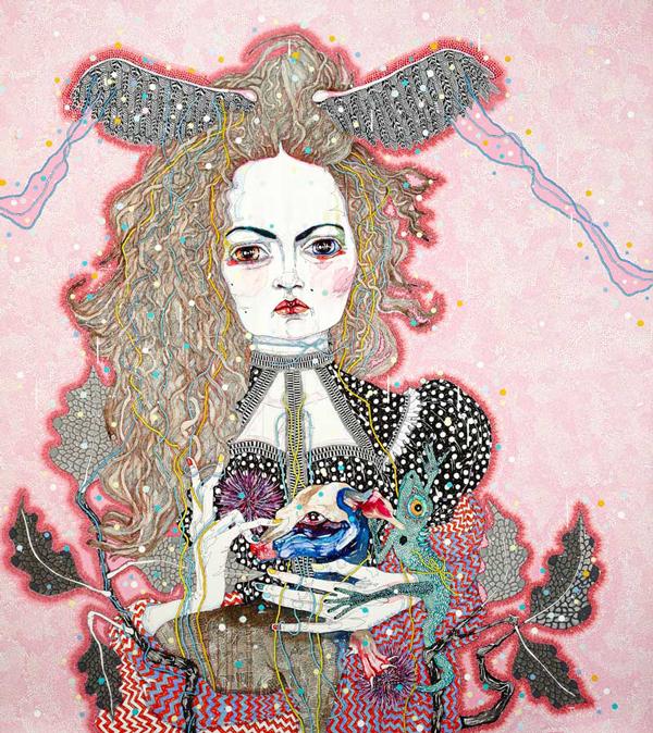 Del Kathryn Barton Australian Artist Painting 12