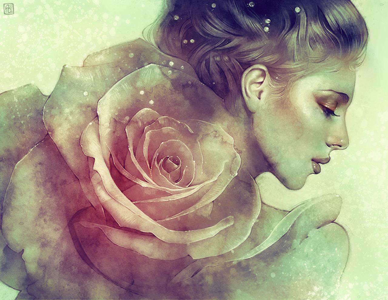 june - by anna dittmann - digital illustration