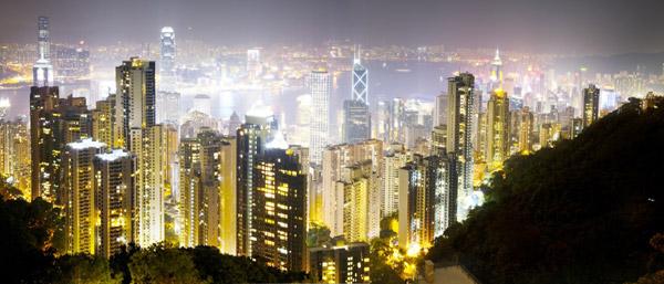 Hong Kong Lights by David Drebin