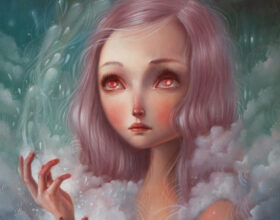 Premonition by Ania Tomicka - painting - Chaos // Kosmos double solo show at Pink Zeppelin Gallery