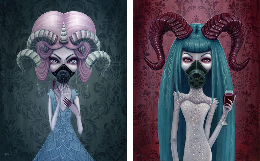 Baker Hesseldenz - 1st Annual Pop Surrealism Masters Art Exhibition 2014 - feat. Megan Majeweski (Dead Kittie)