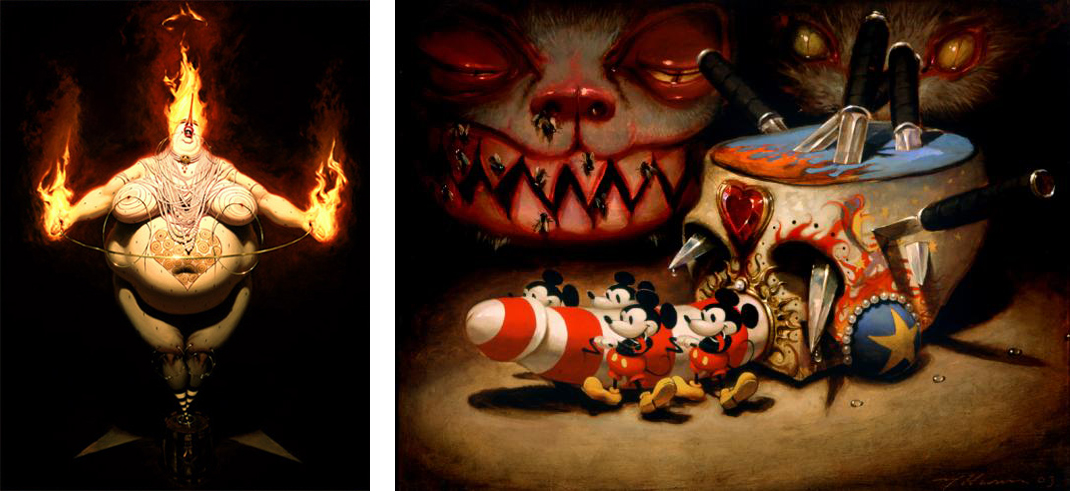 Baker Hesseldenz - 1st Annual Pop Surrealism Masters Art Exhibition 2014 - feat. Michael Hussar