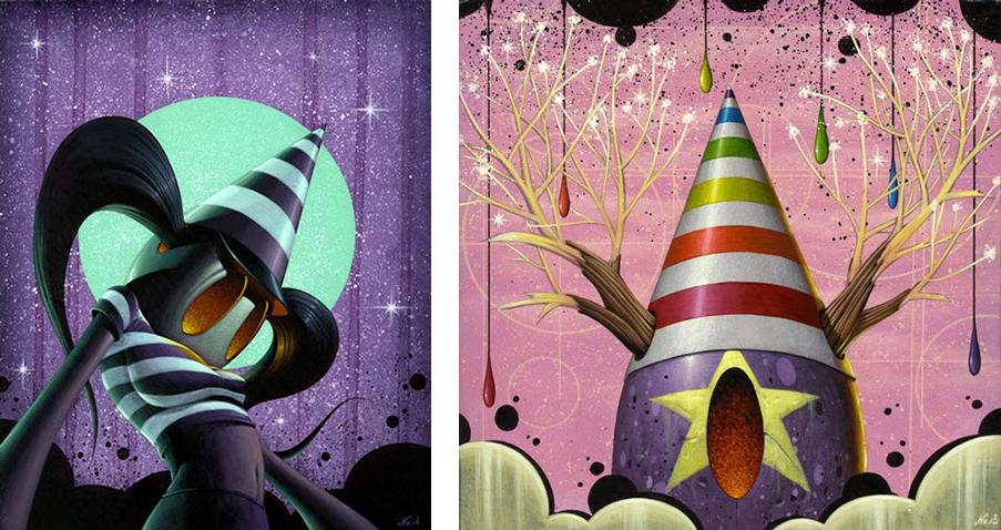 Baker Hesseldenz - 1st Annual Pop Surrealism Masters Art Exhibition 2014 - feat. Nathan Ota
