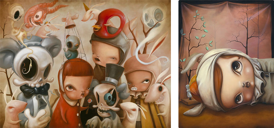 Baker Hesseldenz - 1st Annual Pop Surrealism Masters Art Exhibition 2014 - feat. Kathie Olivas
