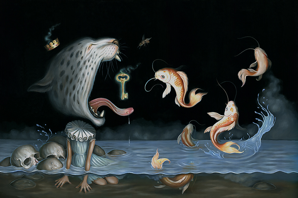 Baker Hesseldenz - 1st Annual Pop Surrealism Masters Art Exhibition 2014 - feat. Hanna Jaeun