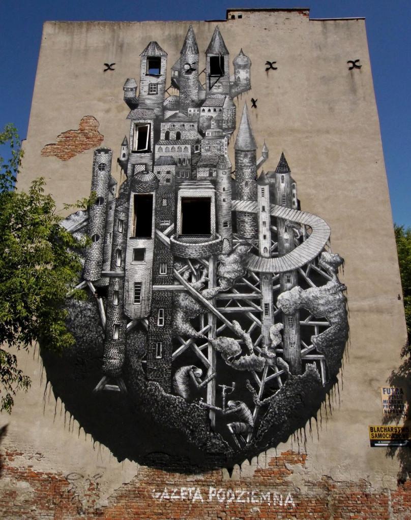Plegm surreal street art