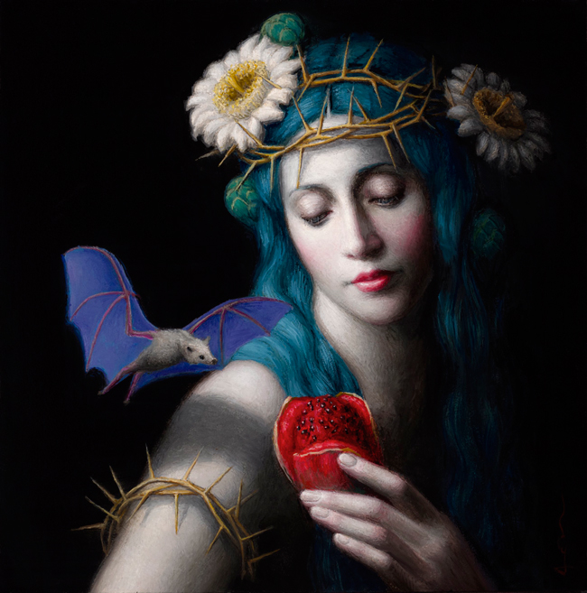 """Offering"" by Chie Yoshii - A part of ""Brink"" art exhibition for the benefit of The Audubon Society of Portland at Antler Gallery - Online preview by beautiful.bizarre art magazine"