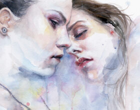 Sensual watercolor portraits by Silvia Pelissero / Agnes Cecile