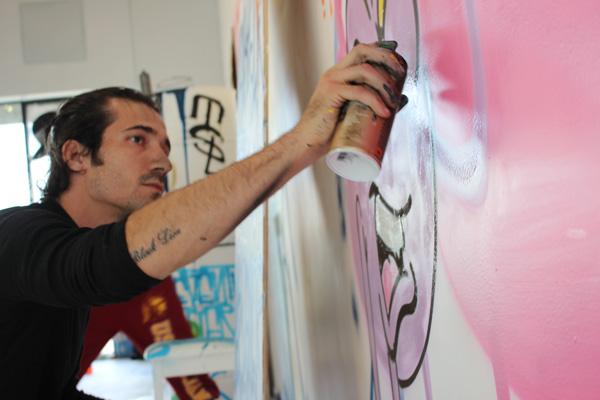 Sebastien Walker Mural - Street Art - Live Painting - Grafitti - Open Walls @ DAX Gallery Costa Mesa - art in OC
