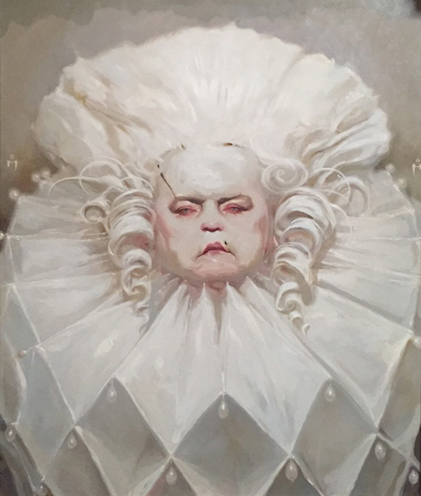 Rooster by Michael Hussar @ Baker Hesseldenz - 1st Annual Spring Group Exhibition 2015 - preview by beautiful bizarre art