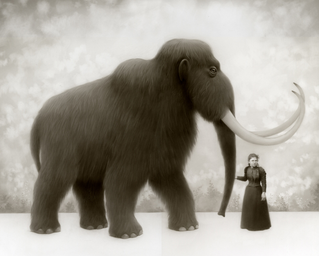 "Travis Louie, ""Martha and Her Mammoth"" @ Roq La Rue, Seattle"