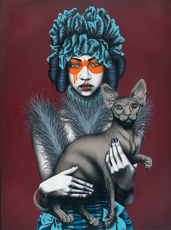 """""""Canine Feline"""" by Fin DAC @ CAVE Gallery"""