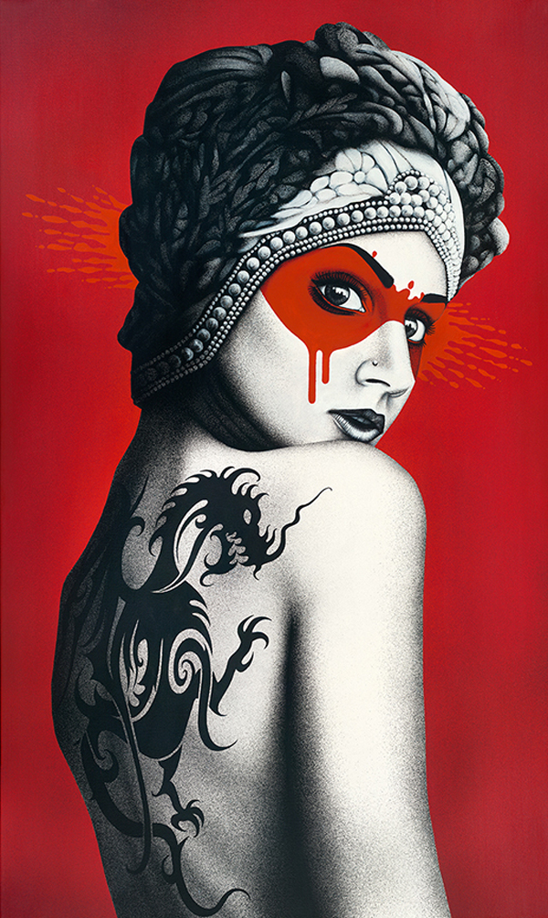 """""""Deadly Dragon"""" by Fin DAC @ CAVE Gallery"""