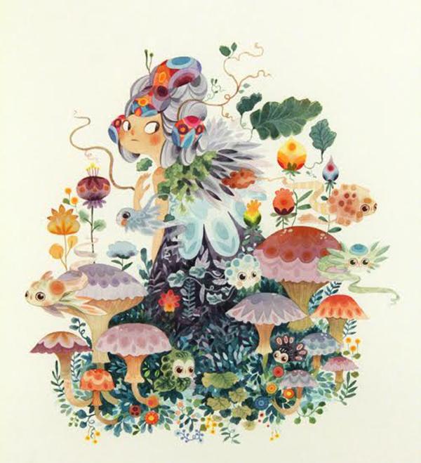 Lorena Alvarez Gomez, fantastical flora and fauna, persephone I