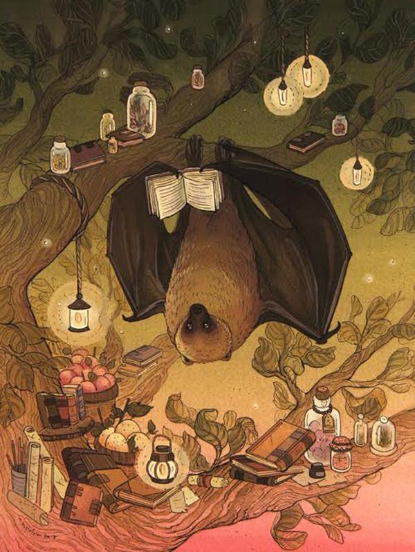 nicole gustafsson, fantastical flora and fauna, night reader