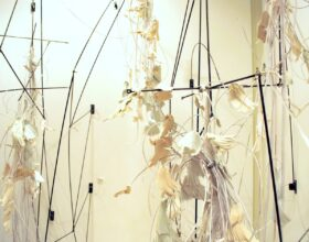 janet neuwalder, thread/bare group exhibition, installation