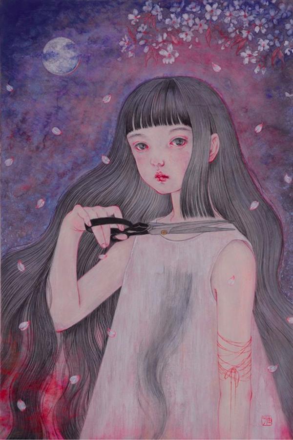Yuko Nagami - ephemeral ~ Territory of girls 「ephemeral~少女たちの領域」 @ Jiro Miura Gallery - via beautiful.bizarre