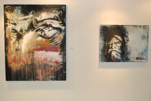 patrick fisher, gamut, mixed media, portrait