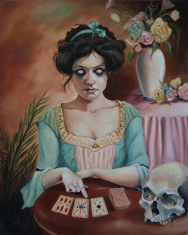 The Cartomancer by Catherine Moore - Victoriana @ Alexi Era Gallery - via beautiful.bizarre