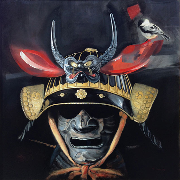 Adam Tragakis - A Chickadee Rests on Samurai's Armour @ Baker Hesseldenz - via beautiful.bizarre