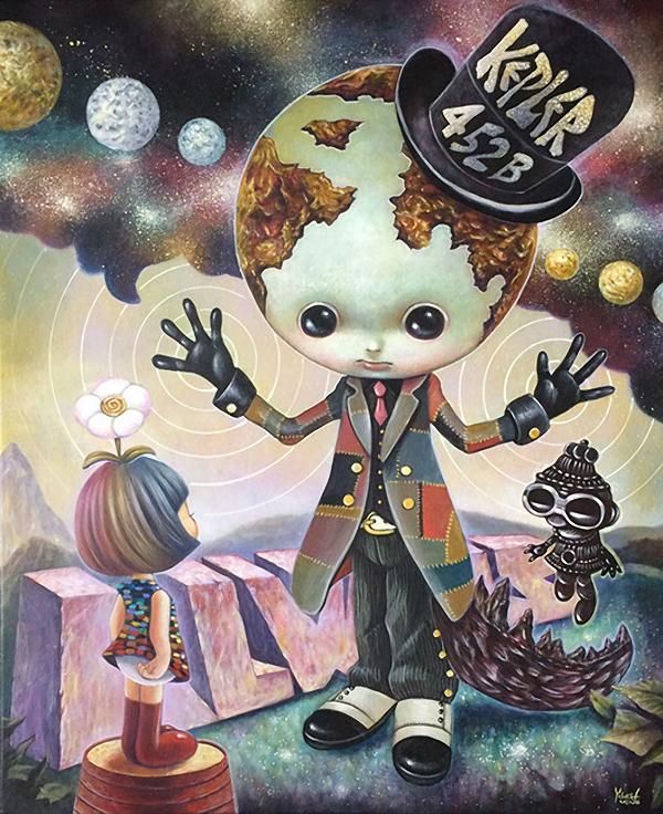 Yosuke Ueno - Kepler 452B @ Baker Hesseldenz via beautiful.bizarre