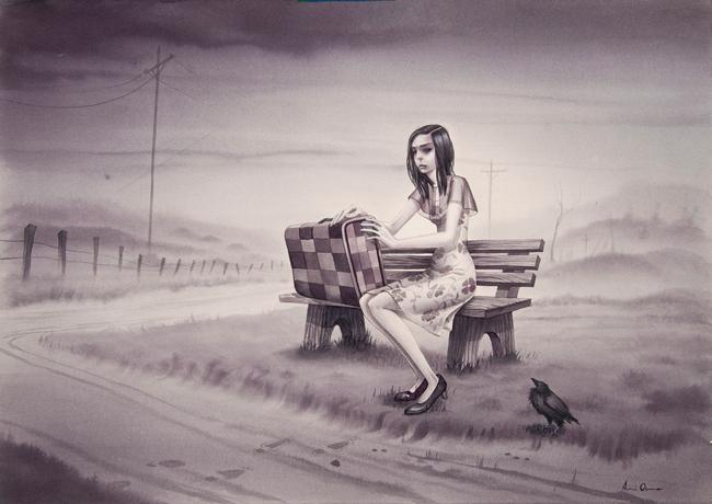 """Leaving So Soon"" by Annie Owens @ Antler Gallery PDX"