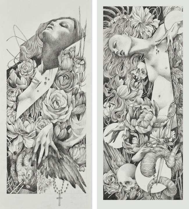 """Litany"" and ""Spire"" by Craww @ Antler Gallery PDX"