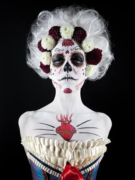 james elledge, dia de los muertos photography, sugar skills, face paint