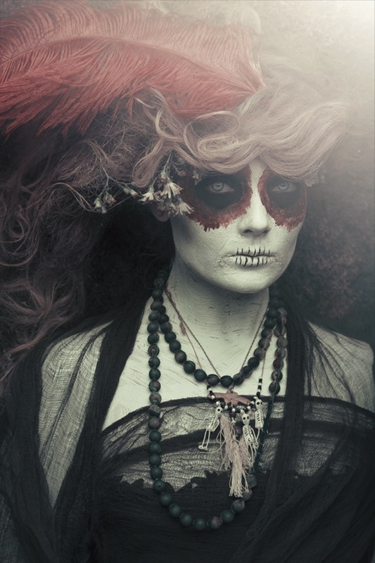 nick chao, dia de los muertos photography, sugar skills, face paint