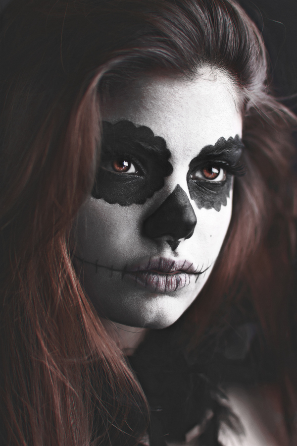 samir kharrat, dia de los muertos photography, sugar skills, face paint