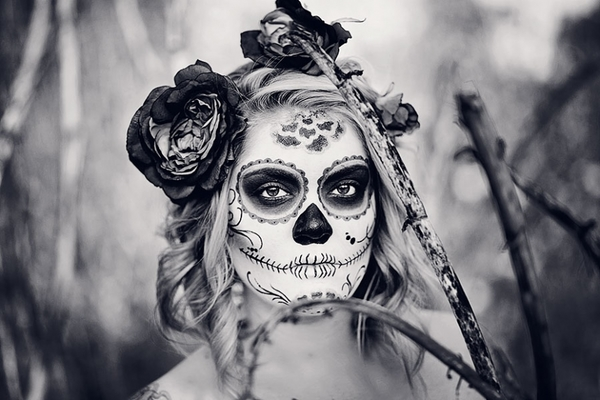 stacey shipp, dia de los muertos photography, sugar skills, face paint