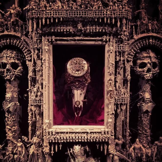 jason stieva, shallow grave studios, assemblage art, gothic art, dark art, skull art