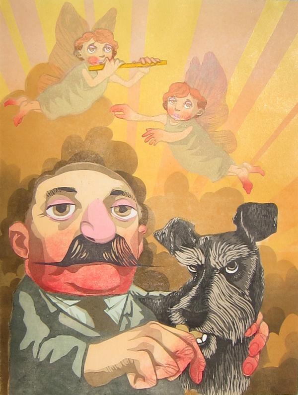 """Man with Dog"" by Nicholas Spohrer"