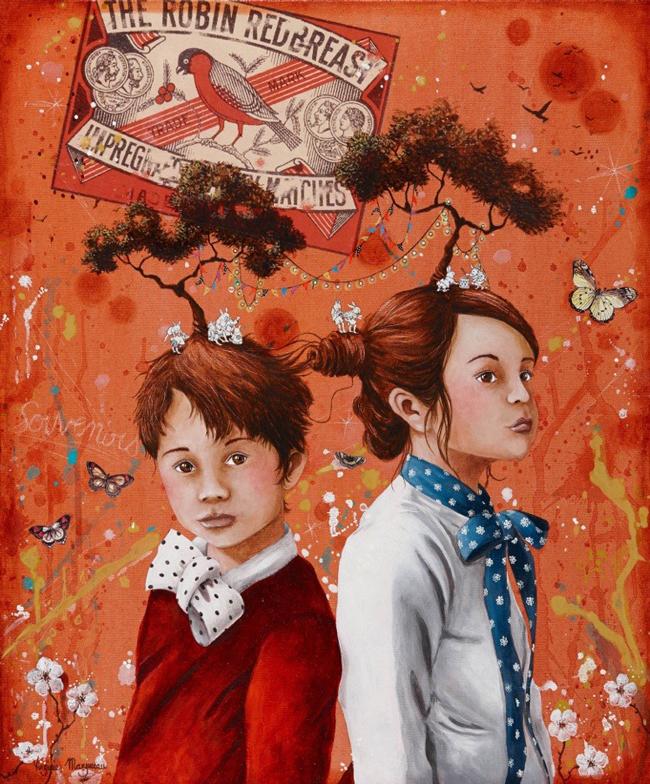 """Siblings"" by Virginie Mazureau @ Arthatch / Distinction Galery, Escondido - via beautiful.bizarre"