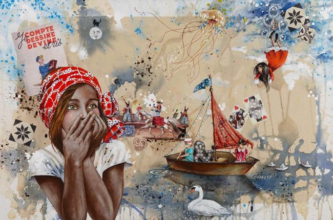 """""""Storyteller"""" by Virginie Mazureau @ Arthatch / Distinction Galery, Escondido - via beautiful.bizarre"""