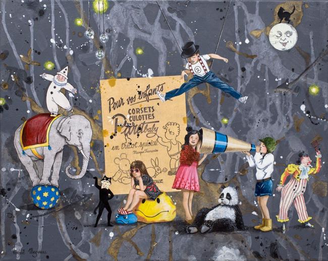 """Backstage 2"" by Virginie Mazureau @ Arthatch / Distinction Galery, Escondido - via beautiful.bizarre"