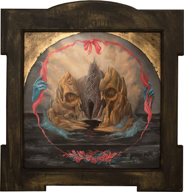 'Enter/Inter (Isle of the Dead)' by Paul Romano - A part of his solo exhibition 'Interim' at Paradigm Gallery + Studio (Philadelphia) - via beautiful.bizarre