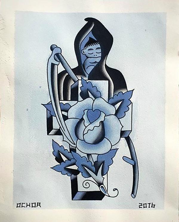 Warriors Fund, Eight of Swords, Jason Ochoa, tattoo art