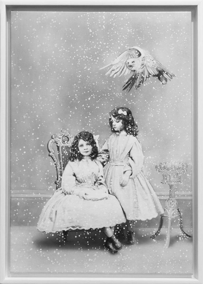 """Zoe Byland, """"Sisters and Snowy Owl"""" - Haven Gallery @ Scope New York 2016"""