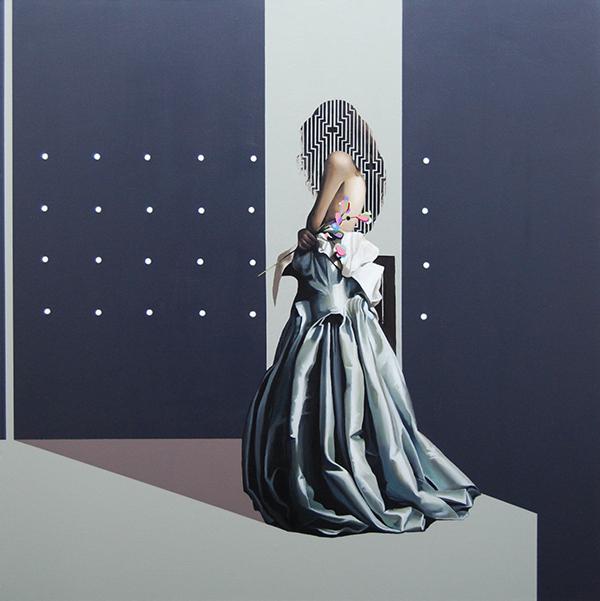 Velvet Bloom (2014) 90x90 cm, acrylic on linen