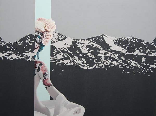 Velvet Bloom VII (2014) 100x120 cm, acrylic on linen