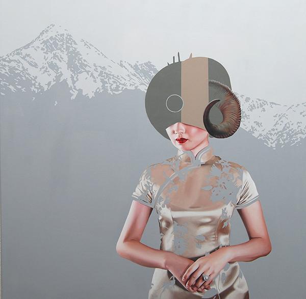Velvet Bloom XI (2014) 100x100 cm, acrylic on linen