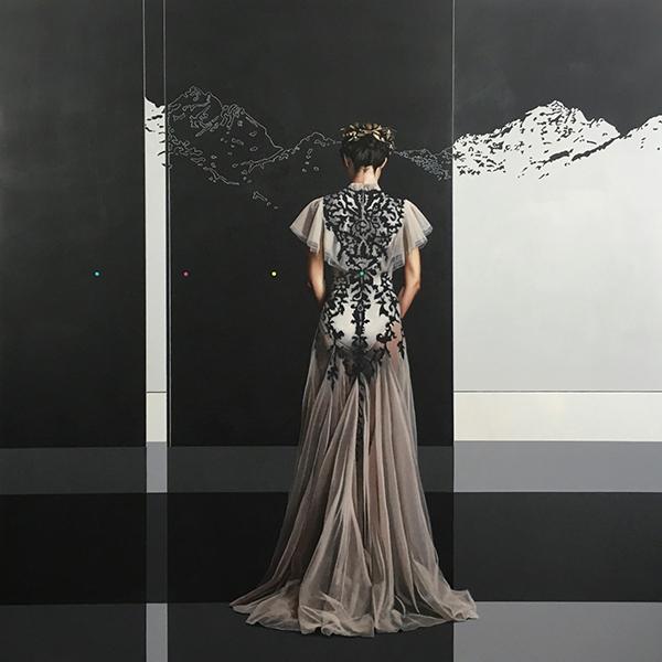 Velvet Bloom XIX (2016) 120x120 cm, acrylic on linen