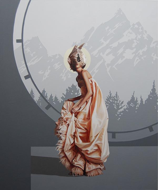 Velvet Bloom XV (2015) 120x100 cm, acrylic on linen
