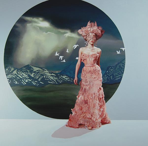 Velvet Bloom XVII (2015) 120x120 cm, acrylic on linen