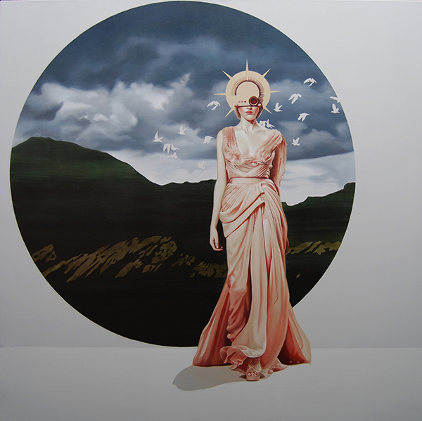 Velvet Bloom XVIII (2015) 120x120 cm, acrylic on linen