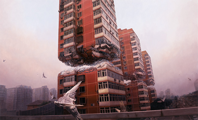 Jeremy Geddes surreal realism painting