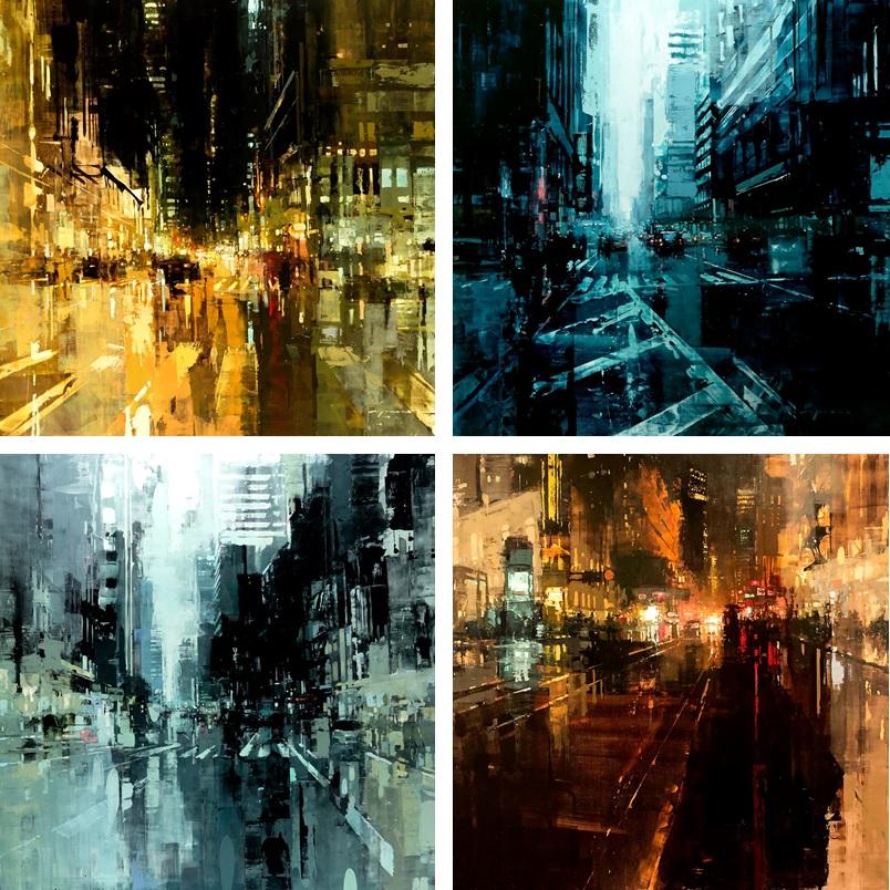 Jeremy Mann surreal landscape painting