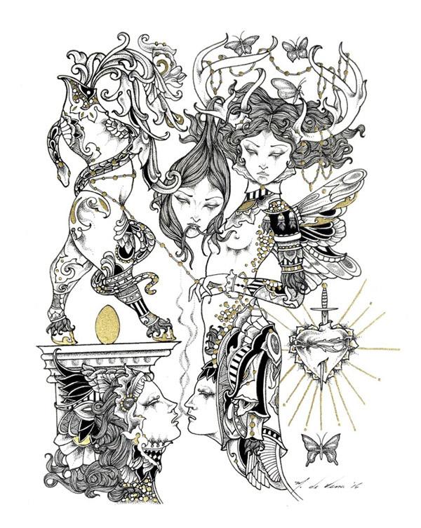 M de Vena, Music Box II @ Haven Gallery - via beautiful.bizarre